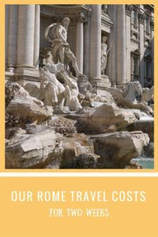 Our Rome prices and travel costs for two weeks