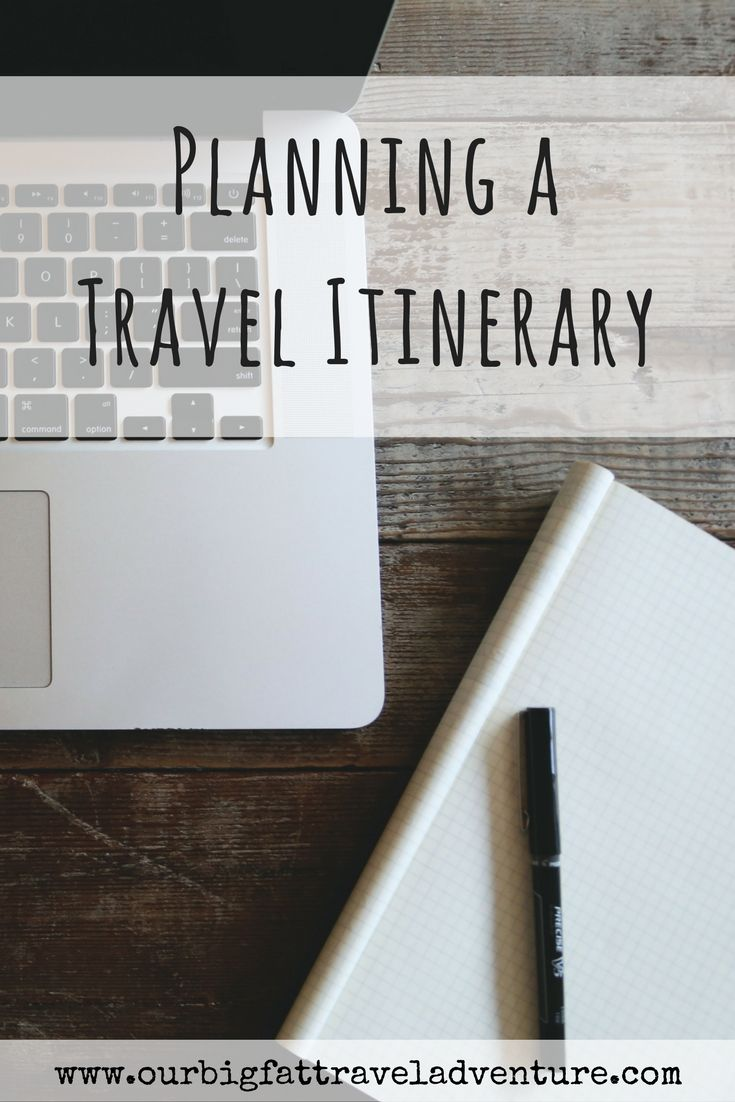 planning a travel itinerary, Pinterest pin