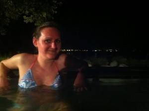 Amy in the Polynesian Spa