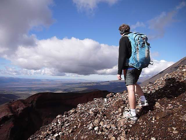 Andrew on a Mountain with a Backpack on