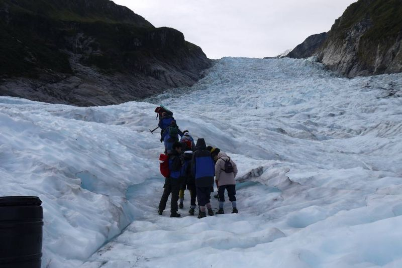 Our group on the Fox Glacier Helihike
