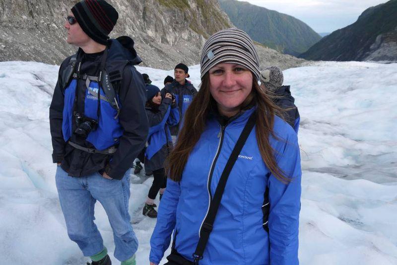 Amy on Fox Glacier