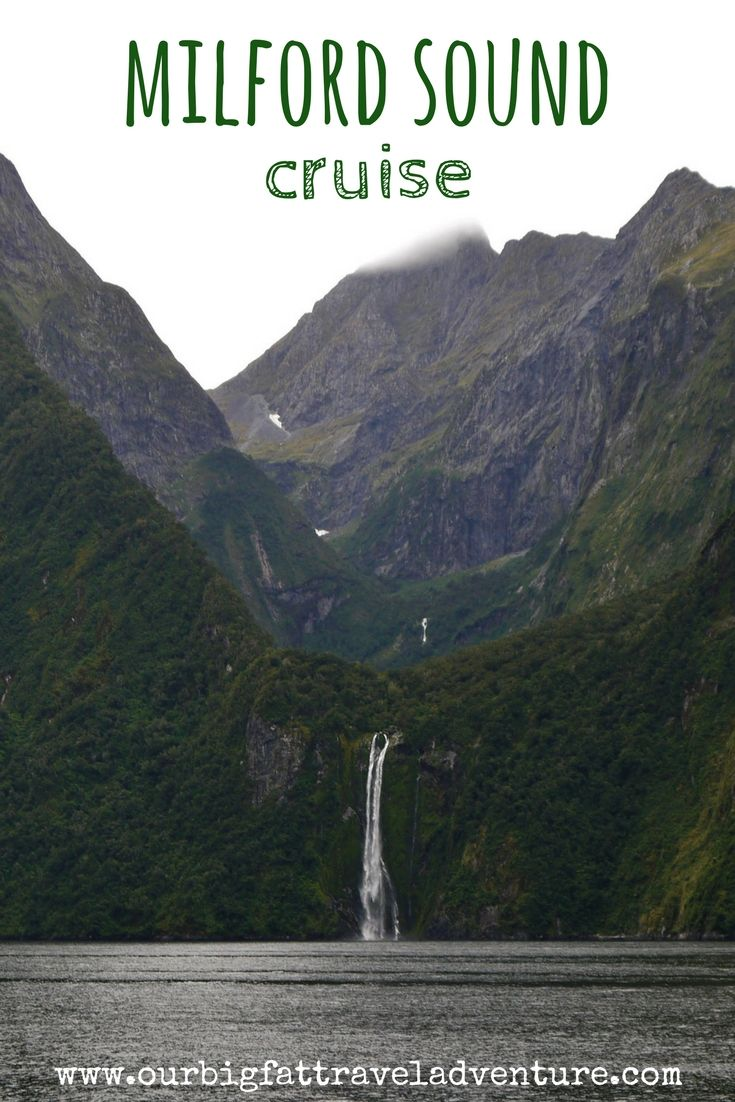 milford sound cruise, pinterest pin