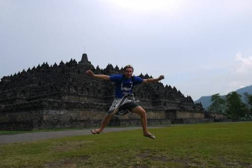 Jumping Shot at Borobudur, Indonesia