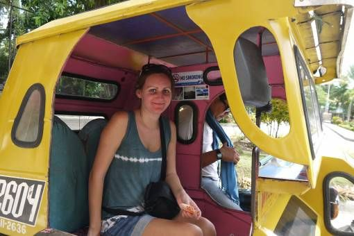 Amy on a Trike in Bohol, the Philippines