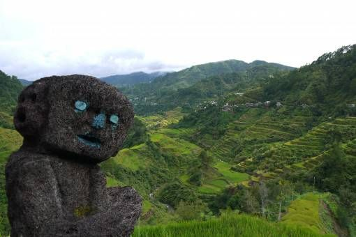 Statue on the Banaue Rice Terraces