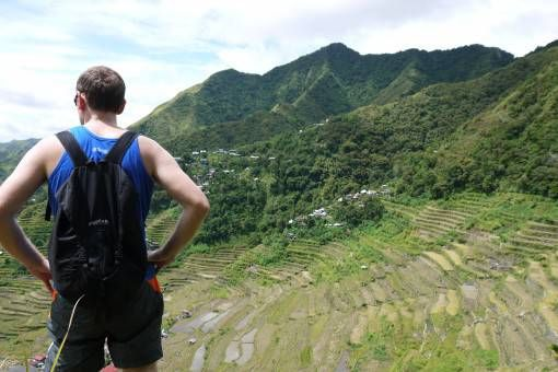 Andrew at the Batad Rice Terraces, the Philippines