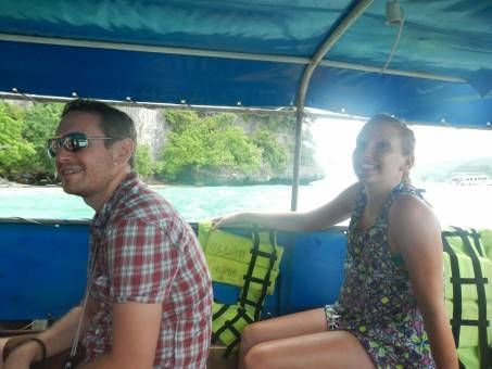 Me with Claire on Phi Phi
