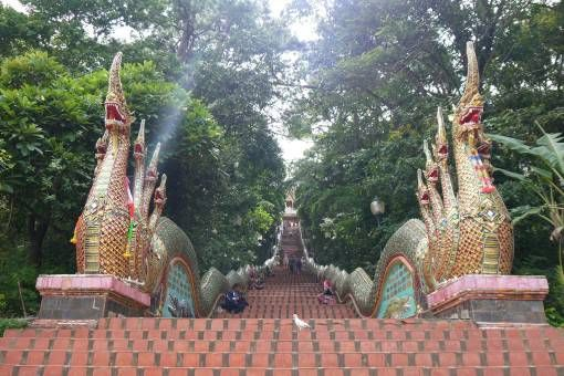 Steps Leading to Wat Phra That