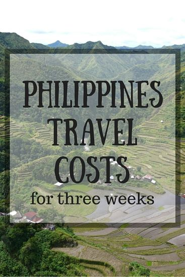 Philippines Travel Costs for three weeks
