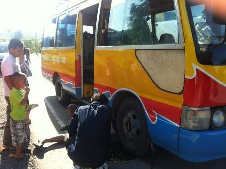Our typical Laos bus