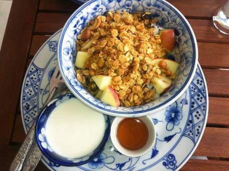 Museli, Fruit, Yoghurt and Honey at the Epic Arts Cafe in Cambodia