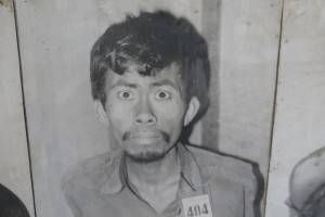 Picture of a Man at S21 Prison in Cambodia