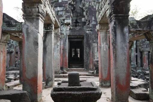 Inside Ta Som Temple in Cambodia