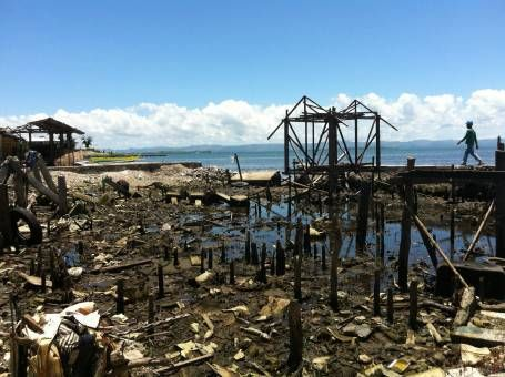 Ruined Homes in Tacloban, The Philippines