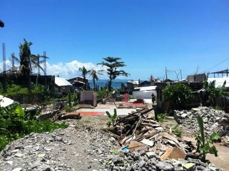 Storm Damage from Typhoon Haiyan in Leyte, the Philippines