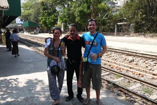 Us With Htun in Yangon, Burma