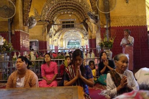 Women Praying in Yangon, Burma