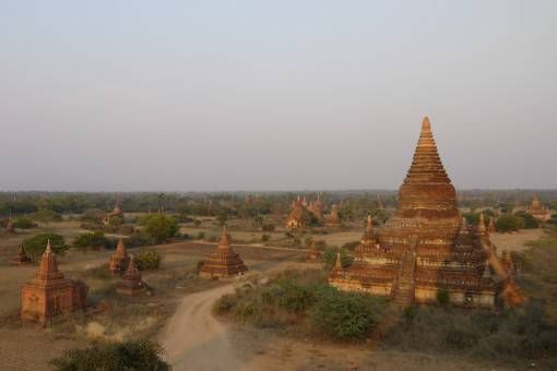 A field full of temples in Bagan, Burma