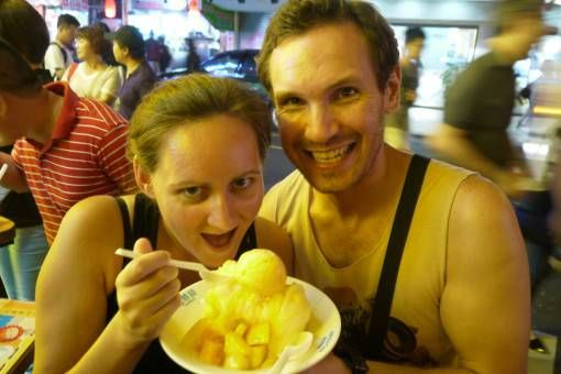 Mango Shaved Ice in Taipei
