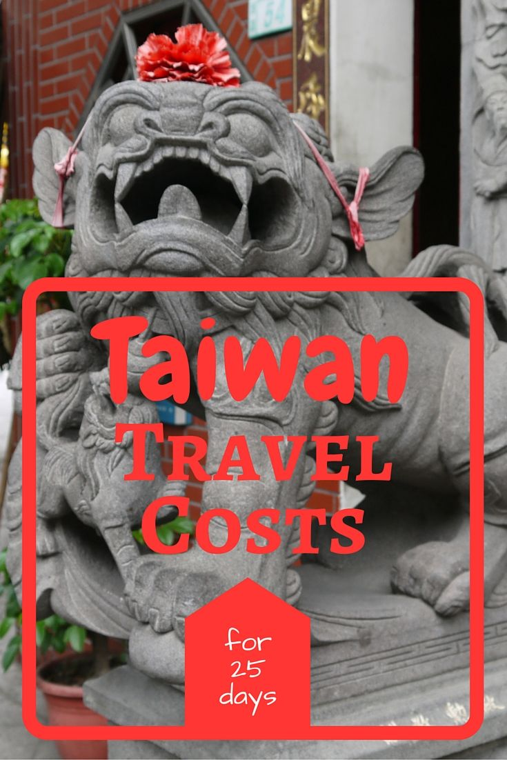 Taiwan travel costs