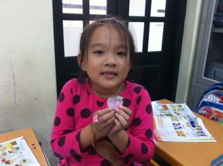 A Student Learning English in Vietnam