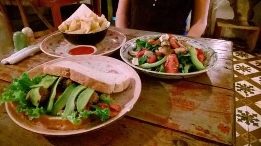 Sandwiches and salad at Hanoi Social Club