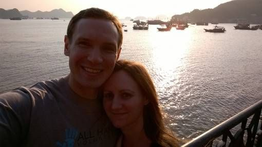 Us and the Sunset on Cat Ba Island