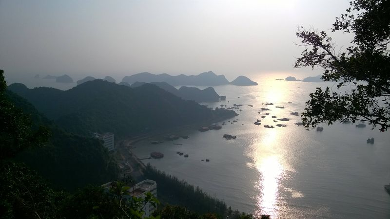View of Halong Bay from Cat Ba Island