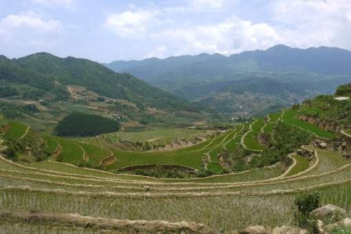 Valley and mountains in Sapa