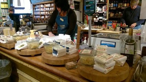 Selection of Vermont Cheeses at the Vermont Country Store