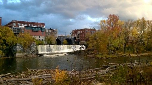Picturesque town of Middlebury, Vermont