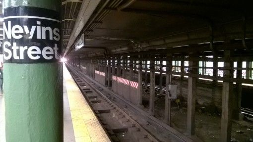 Waiting for the train in New York