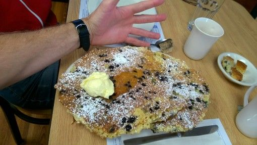 Blueberry pancakes at the Blueberry Muffin, Plymouth, MA