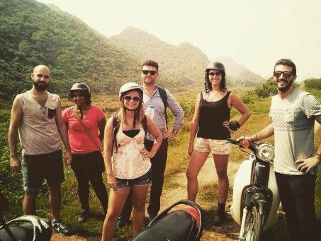 Emma & Friends on a road trip to the Perfume Pagoda in Vietnam