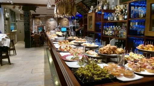 Pinchos bar in San Sebastián, Basque Country, Spain