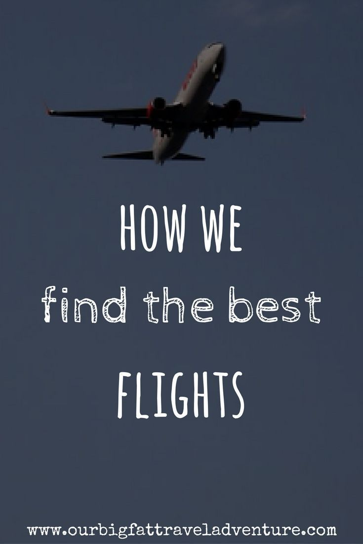 how we find the best flights pinterest pin