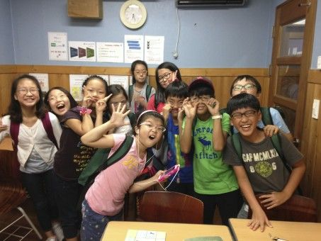 Students in South Korea