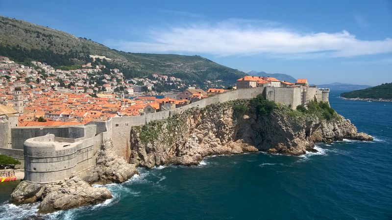 View of Dubrovnik from Fort Lovrijenac
