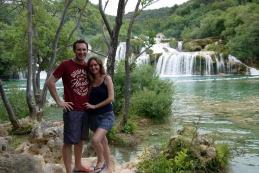 Andrew and I at Skradinski Buk Waterfall in Krka National Park