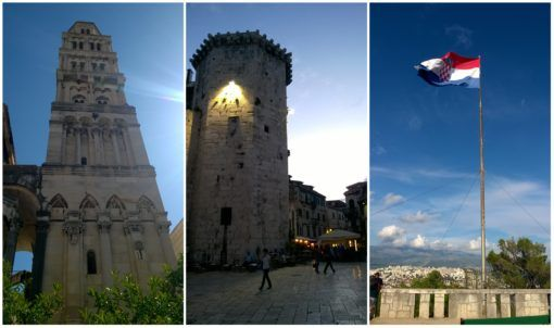 Collage of Split Old Town in Croatia