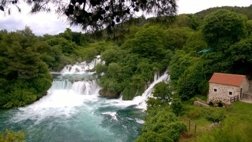 Waterfalls and forest in Krka National Park, Croatia