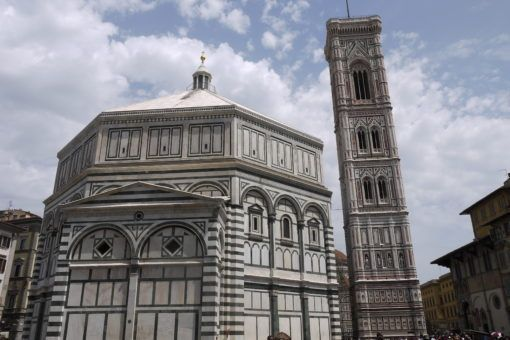 The Babtistry and Bell Tower in Florence, Italy
