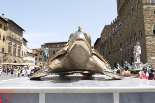 Turtle Statue in Florence, Italy