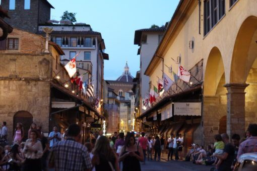 Ponte Vecchio, Florence, at night
