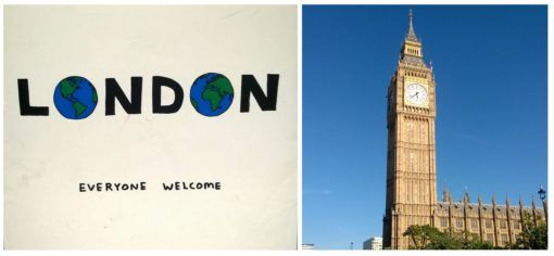 London - all welcome and Big Ben