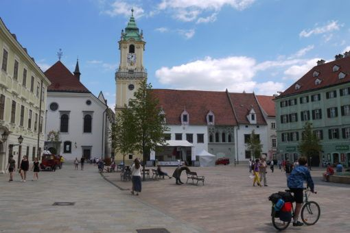 Bratislava Old Town Square and Clock Tower