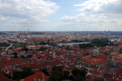 View of Prague from the Powder Tower