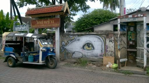 A Tuk Tuk and street art - The cost of living in Chiang Mai, Thailand