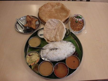 Tali Plate from Woodlands Vegetarian Restaurant in Little India, Georgetown